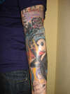 nightmare before christmas sleeve bad tattooist alpha omega tattoo