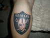 RAIDERS tattoo