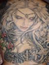 Sandys full Back tattoo