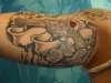 Turks inner arm tattoo