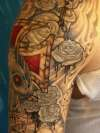 Turks outer arm, detail tattoo