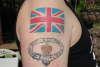 Union (British) flag tattoo