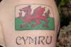 Welsh flag tattoo