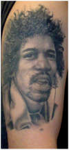 Jimi Hendrix tattoo