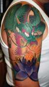 Dragon & Lotus tattoo