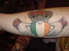 claddagh w/ anchors tattoo