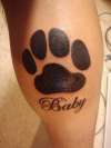 Tattoo For my Dog Baby who died Labor Day 2009