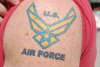 U.S. AIR FORCE tattoo