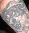 Wolf ( Fenris aka Fenrir aka Fenriz ) tattoo