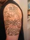 Aztec-Stone Calander-Arm Band tattoo