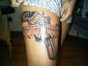 Gun & Garter tattoo