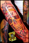 music life skull tattoo