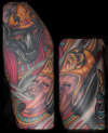 Egyptian Sleeve - Anubis and King tattoo