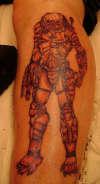 Predator on the leg tattoo