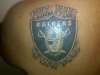 raider fan 4 life! tattoo