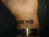 40th birthday present tattoo