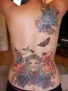 Custom back piece/cover up. #1 tattoo