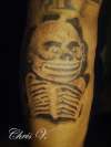 Aztec god of the Underworld tattoo