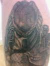 Classic Predator close up tattoo