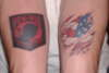 Red, White, Blue, and Black Patriotic tattoo