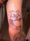 drum set tattoo