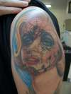 Marilyn Monro day of the dead tattoo