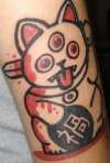 Misfortune Cat tattoo