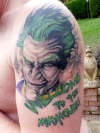 joker Batman Arkham Asylum tattoo