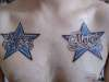 Names in stars tattoo