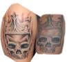 Skull Totenkopf tattoo
