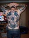 tribal body suit tattoo