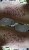 Sinner-Saint tattoo