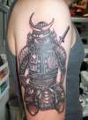 greywash saurai warrior tattoo