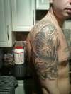 koi black and grey tattoo