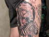 lion and zebra Done by Ron Antonick, Gen X tattoo