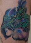 Peacock Mask tattoo