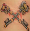 Skeleton Keys tattoo