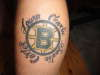 two favorite things.... family and BRUINS tattoo