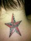 Back & Red Nautical Star tattoo