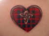 Celtic Tartan Fraser Heart tattoo