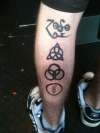 Led Zeppelin symbols tattoo