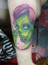 Sexy Zombie Cosmetology tattoo