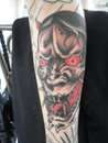 japan mask tattoo