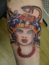 old school gypsy lady tattoo