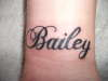 Bailey tattoo