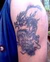 Chinese Dragon Tattoo, left upper arm tattoo