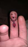 Finger puppet tattoo