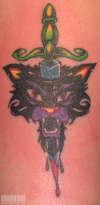 Kitty and Dagger tattoo