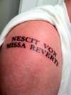 Again, latin tattoo