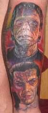 Glenn Strange & Bella Lugosi tattoo